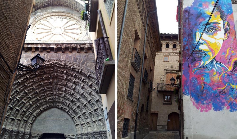 Tudela, puerta del Juicio de la Catedral y Palacio Decanal De Tudela