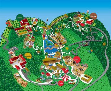 Senda Viva mapa del parque