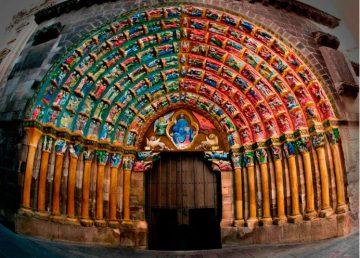 Puerta del Juicio policromada Catedral de Tudela